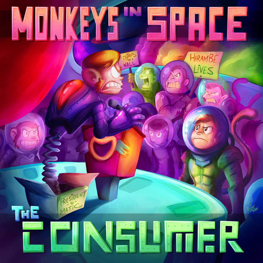 Monkeys In Space - Consumer - Cover Art by amorias