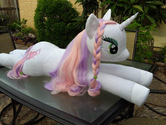 Sweetie Belle MLP Lifesize Plush 01 by NeysaNight