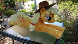 Applejack MLP Lifesize Cuddle Plush 01 Main by NeysaNight