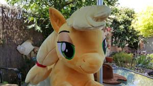 Applejack MLP Lifesize Cuddle Plush 03 by NeysaNight