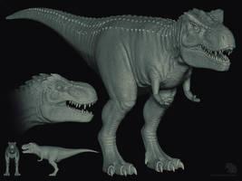 T. Rex sculpt by sash4all