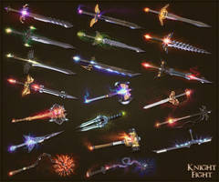 Knightfight weapons 1 by sash4all