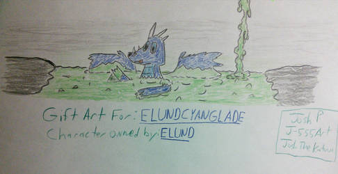 ELUND IN A SLIME PIT (GIFT ART FOR ELUNDCYANGLADE) by J-555ART