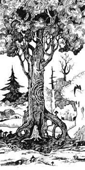 Inktober. Tree by Last-Valentine