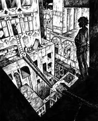 Inktober. Gray City by Last-Valentine