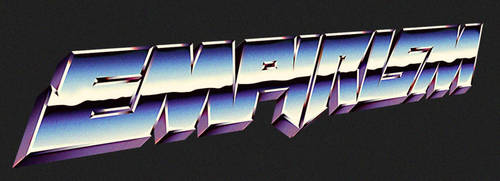 80s chrome logo artwork - EMPIRISM by Bulletrider80s