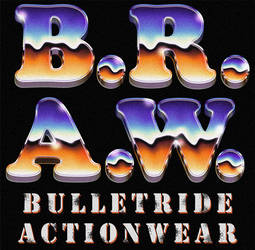 B.R.A.W. 70s / 80s chrome styled retro logo by Bulletrider80s