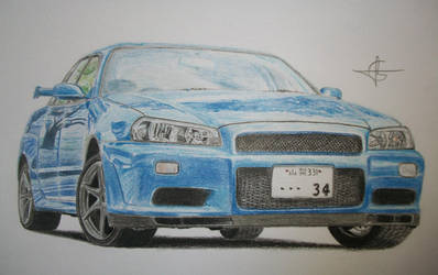 Nissan Skyline R34 by Millo97
