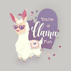 You're a llama fun! by Ikue