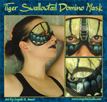 Tiger Swallowtail Domino Mask by Angelic-Artisan