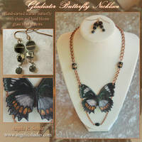 Gladiator Butterfly Necklace by Angelic-Artisan
