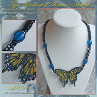 Tiger Swallowtail Necklace by Angelic-Artisan