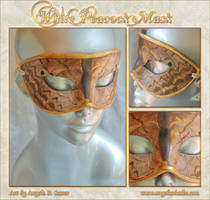 White Peacock Butterfly Mask by Angelic-Artisan