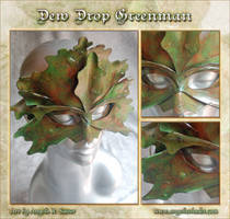 Dew Drop Green Man Mask by Angelic-Artisan