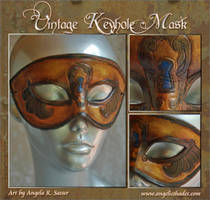Vintage Keyhole Mask Dark Gold by Angelic-Artisan