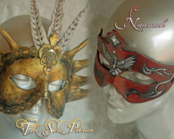 The Sun Prince and Naamah Masks by Angelic-Artisan