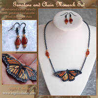 Gemstone and Chain Monarch Set by Angelic-Artisan