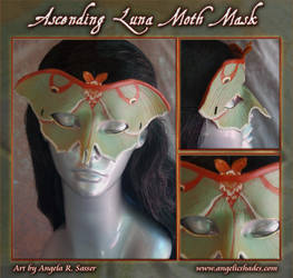Ascending Luna Moth Mask by Angelic-Artisan