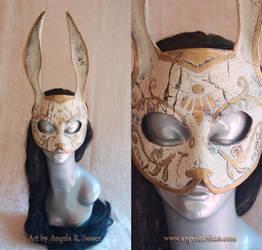 War Torn Splicer Bunny Rabbit Mask by Angelic-Artisan