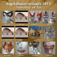AngelaSasser-artisan's 2013 Summary of Art by Angelic-Artisan