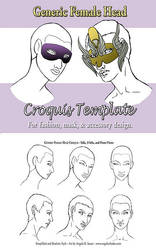 Generic Female Head Croquis Template by Angelic-Artisan