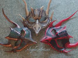 Dragon Triplet Masks by Angelic-Artisan