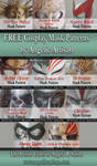 FREE Cosplay Mask Patterns by Angelic-Artisan