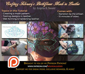 Crafting February's Mask in Leather PREMIUM by Angelic-Artisan
