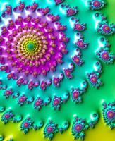 Rainbow Fractal by Kaleiope-Studio