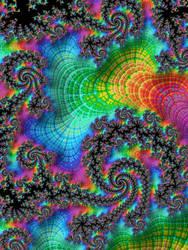Neon Rainbow Fractal by Kaleiope-Studio