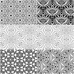 Seamless Pattern Coloring Pages 5 for $1 by Kaleiope-Studio