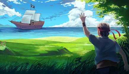 Paradise Blue by Simple-illust