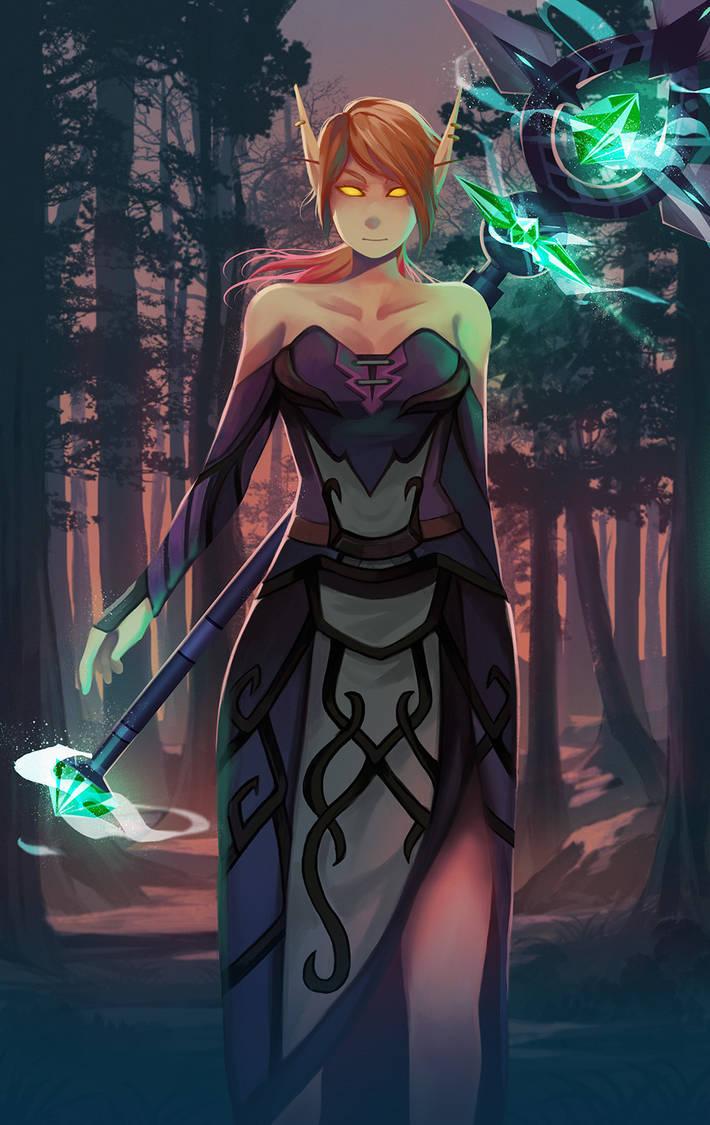Blood Elf Priest by Simple-illust