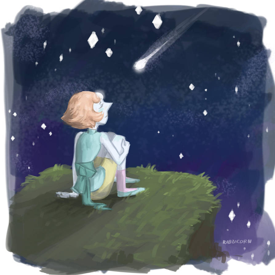 I think Pearl doesn't really believe that the shooting star can make her wish true, but she tried anyway.