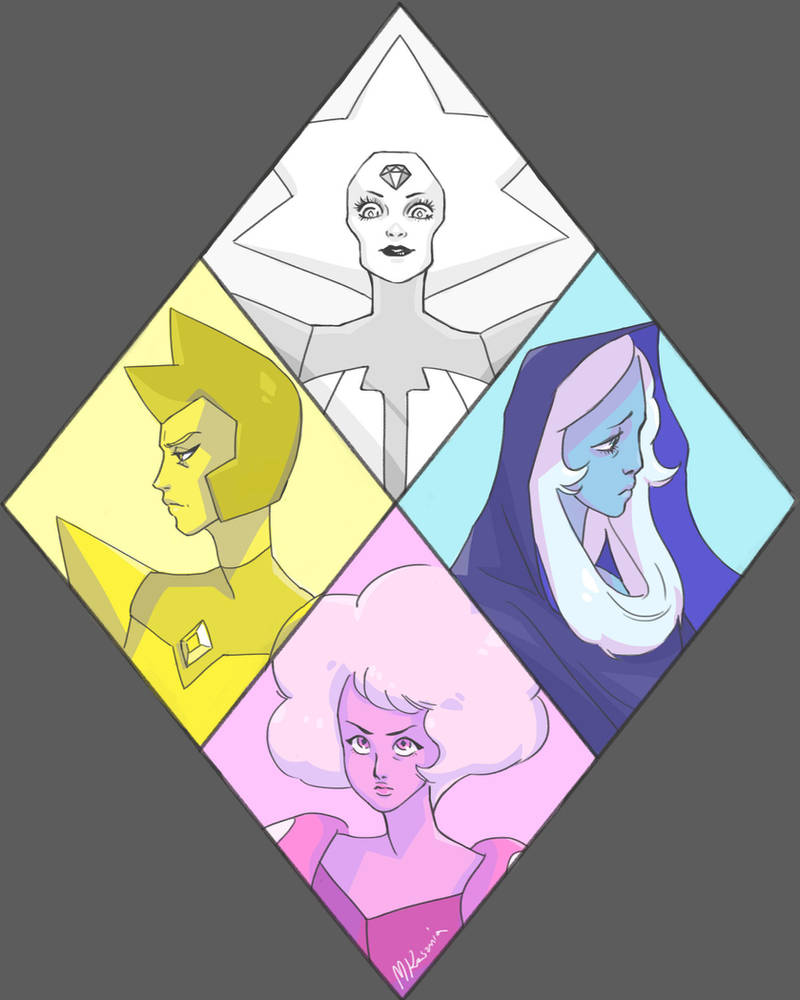 All of the diamonds from Steven Universe!