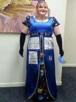 Regency style T.A.R.D.I.S. gown by weldergirl1995