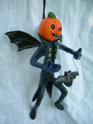 Little Pumpkinhead Ornament by liselfwench