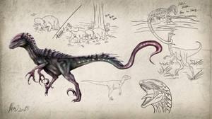 Neurotenic Utahraptor Concept 3 by drmambo199
