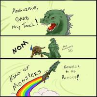 Godzilla Grab My Tail Meme by Sellena-Hikari