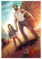 Logan and X-23 Pinup by E-Blake