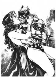 Wonder Woman and Batman Romance by E-Blake