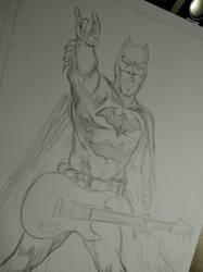 #batman #rock #pencilart by E-Blake