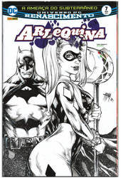 Harley Quinn Sketch Cover INK by E-Blake