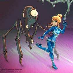 Samus Alien Spider1 by StickyScribbles