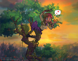 Dryad Transformation 2 by StickyScribbles