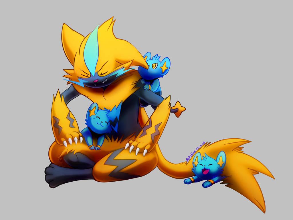 Zeraora the babysitter by mudkip-chan