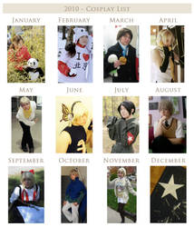 2010 Cosplay List by loveanime