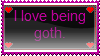 Goth stamp by XXXYaoiLoveXXX