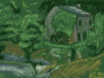 Watermill by nekomusume