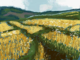 Barley Field by nekomusume
